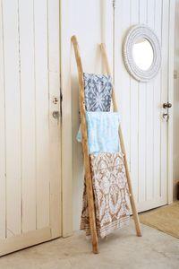 Teak Leiter Holz Deko Handtuchhalter Handtuchleiter Garderobe 150 cm