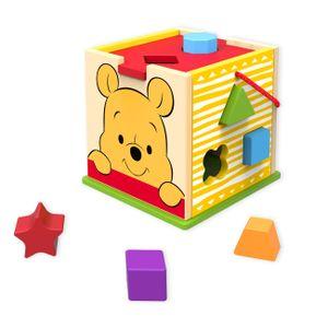 Disney Winnie Pooh Sortier Steck Würfel Holz Spielzeug