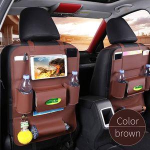 Auto Sitztasche Sitzlehne Tasche Premium Kunstleder Multicolor Travel Protector Organizer Autopflege