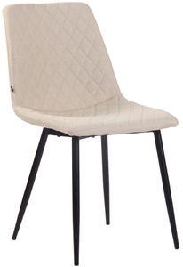 CLP Stuhl Telde Stoff mit Metallgestell, Farbe:creme