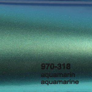 (16,44€/m²) Oracal 970RA Autofolie 318G Aquamarin Glanz Folie 152 cm Breite Laufmeterware gegossene Auto Folie selbstklebend