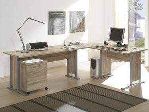 """Schreibtisch-Kombination Winkelschreibtisch Bürotisch Arbeitstisch """"Clermont I"""" Sonoma-Eiche"""
