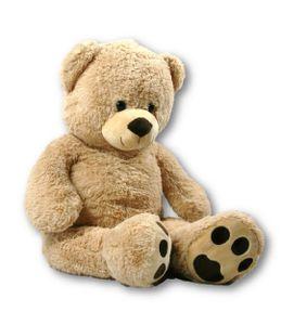 XXL Teddy Bär hellbraun 100 cm groß Kuscheltier Teddybär