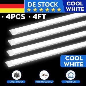 Meco 4X 40W 120CM LED Wannenleuchte Feuchtraumleuchte Werkstatt Bürolampe Deckenlampe