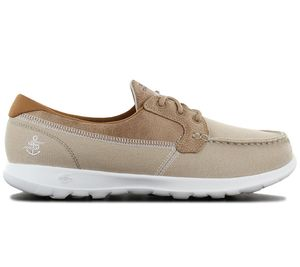 Skechers GOwalk Lite Coral - Damen Bootsschuhe Beige 15430-NAT , Größe: EU 38 UK 5