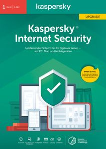 Kaspersky Internet Security Upgrade ( 1 Gerät I 1 Jahr) (Code in a Box) - CD-ROM-Eurobox