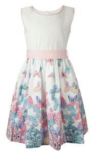 Happy Girls® Mädchen Kleid Schmetterlinge, Größe:122, Präzise Farbe:Rose
