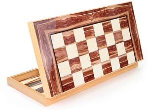 Semus Backgammon Tavla DAMA XXL Gesellschaftsspiele Nussbaum Optik