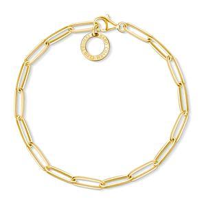 Thomas Sabo X0253-413-39 Charm-Armband Gelb-Gold 17 cm