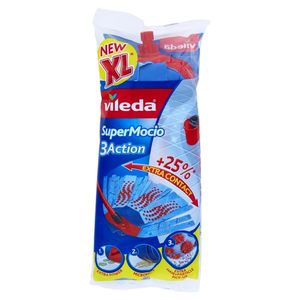 Vileda  Super Mocio Ersatzmopp mit 3D-Velours-Struktur