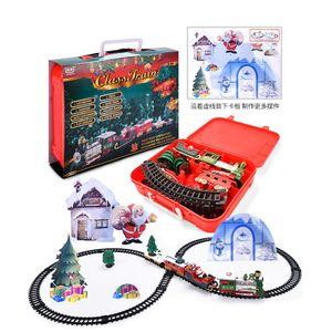 Weihnachtszug mit Musik und Licht 22-teilig Eisenbahn Weihnachtsdeko Spielzeug
