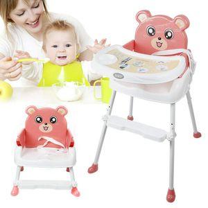 hochstuhl Kinderhochstuhl treppenhochstuhl  Höhenverstellbare   Neu 4 in1 Baby Essstuhl Sitzerhöhung Babyhochstuhl  Fütterungssitz mit Tablett Sicherheitsgurt  Cartoon entworfener FütterungNette Katze Entworfen Protable  Booster Säuglingsernährung (Rosa)