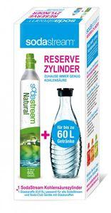 SodaStream Reserve-Zylinder 50-60 ltr + Glas - Karaffe