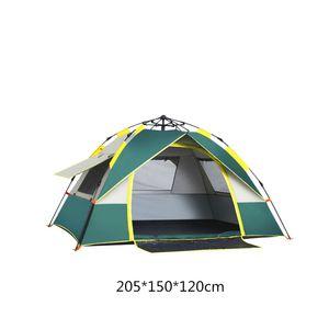 SAMTOBELY Familienzelt 2/3 Personen Zelt,Campingzelt,leichtes Trekkingzelt, Tunnelzelt wasserdicht Zelt 200*150*130cm grün