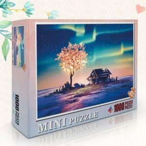1000 Teile Kinder Puzzles Fantasy Jigsaw Spielzeug 38CM X 26CM Klassische Puzzles Fantasie beleuchtet Baum