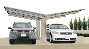 Carport XIMAX Linea Aluminium Typ 80 Y ES 495x548x244cm