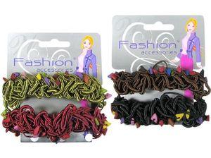 Haarbänder elastisch extrabreit, 2er-Set auf Karte, Stirnbänder, Armbänder