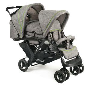 Chic 4 Baby Geschwisterwagen DUO Jeans-grau; 274 32