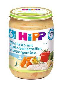HiPP Menüs ab 6.Monat, Mini-Pasta mit Alaska-Seelachsfilet und Buttergemüse, DE-ÖKO-037 - VE 190g