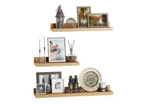 Bucheablage Regal Fotoleiste für Bilder Bücher und Deko in drei verschiedenen Längen V-90.84-5, Länge:90 cm