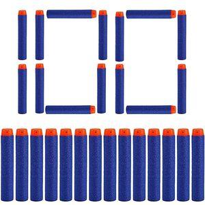 100 Darts Pfeile für Nerf Zubehör 7.2cm Pfeile Refill Bullets Darts - geeignet für N-Strike / Elite / X- Shot Blasters Spielzeugpistole Blau Orange Dart Blaster