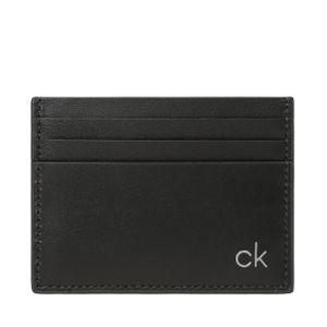 Calvin Klein Kreditkartenetui Quer 6 Kreditkartenfächer Smooth Leder Unisex