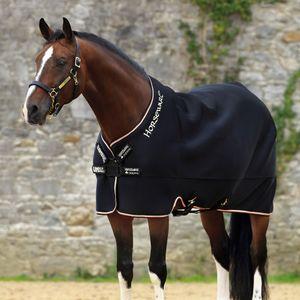 Horseware Rambo Airmax Cooler DISC - Black/Tan/Orange, Größe:160