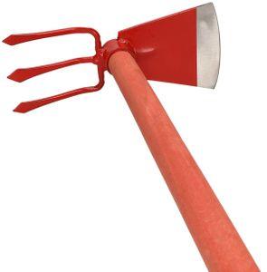 KOTARBAU® Feldhacke 110 x 105 mm 3 Zinken 107 mm mit Stiel 120 cm Gartenhacke Unkrauthacke Pflanzhacke Gartenwerkzeug zum Umpflanzen Jäten Gartenpflege