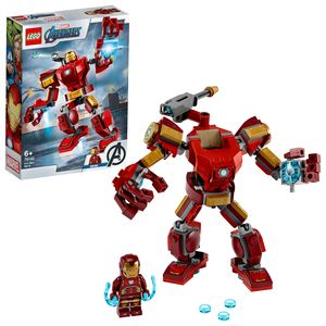 LEGO 76140 Super Heroes Marvel Avengers Iron Man Mech Spielset, Kampf-Actionfigur für Kinder ab 6 Jahren