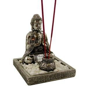 Räucherstäbchen-Halter Buddha Set inkl. Dekosteinen Räucher Zubehör