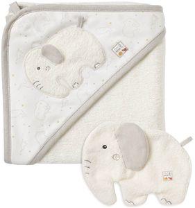 Fehn Bade-Set Elefant 2-tlg. fehnNaturmit Kapuzenbadetuch Waschhandschuh