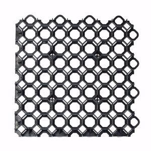 acerto® - Rasengitter Kunststoff Platte schwarz 49x49x4 cm Befahrbar Rasengitterplatten