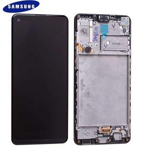 Original Samsung Galaxy A21s 2020 A217F LCD Display Touch Screen Digitizer Bildschirm (Service Pack) Black GH82-23089A / GH82-22988A