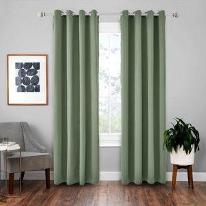 Vorhänge 2er 260x140cm(HxB) Grün Blickdicht Thermo für Wohnzimmer Schlafzimmer Kinderzimmer
