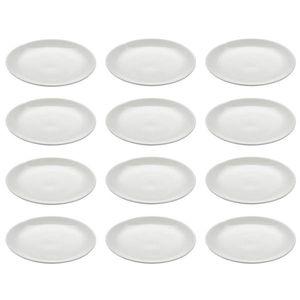 12er Set Dessertteller WHITE BASICS ROUND D. 15cm weiß Maxwell & Williams