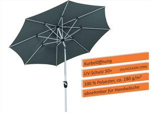 Schneider Sonnenschirm VENEDIG 270/8 grau 683-15
