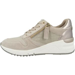 Tamaris Damen Low Sneaker 1-23702-26 Grau 426 Taupe Comb. Leder und Textil mit Herausnehmbare Innensohle, Groesse:40 EU