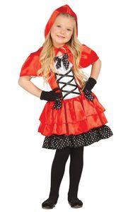 Rotkäppchen Kleid für Mädchen in Gr. 98-146, Größe:98/104