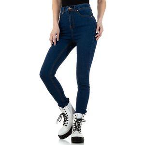 Ital-Design Damen Jeans High Waist Jeans Dunkelblau Gr.31