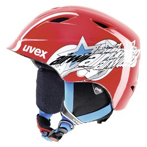Uvex airwing 2 pro, Size:48-52 cm, Color:red star