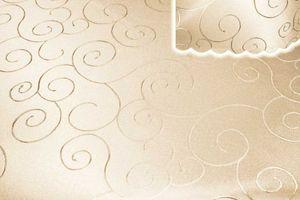Tischdecke creme sand oval 130x220 cm damast Ornamente bügelfrei fleckenabweisend