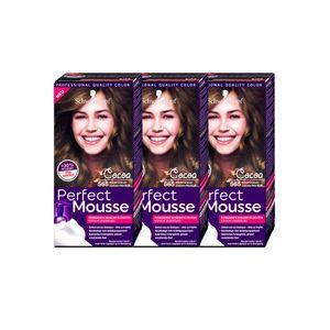 Schwarzkopf Perfect Mousse permanente Farbe / 565 Edler Kakao / 3er Pack