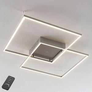 Lucande LED Deckenleuchte 'Mirac' dimmbar mit Fernbedienung (Modern) in Alu aus Metall u.a. für Wohnzimmer & Esszimmer (2 flammig,, inkl. Leuchtmittel) - Lampe, LED-Deckenlampe, Deckenlampe