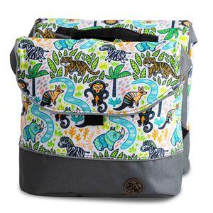 BAMBINIWELT Gepäcktasche, Gepäckträgertasche für Fahrrad, Fahrradtasche für Kinder, wasserabweisend, Modell 21