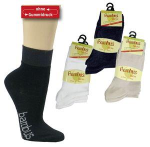6 Paar Bambus Socken KURZSCHAFT Gr. 39/42 schwarz