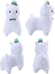"""14"""" Weiß Plüsch Alpaka, süße weiche Kuscheltiere Spielzeug."""