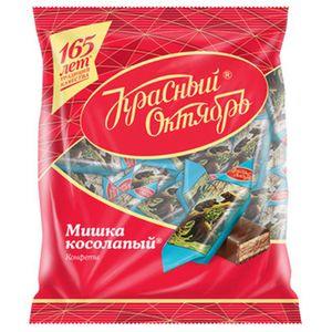 Pralinen Mischka Kosolapij mit Waffeln und Mandeln in kakaohaltiger Glasur 200g