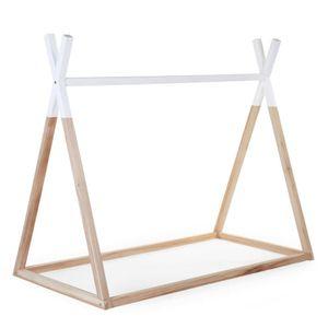Tipi Kinderbett Rahmen Nat/Weiss 70X140