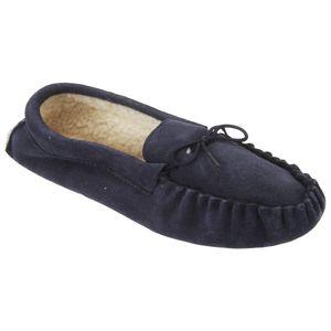 Mokkers Herren Jake Mokassins / Hausschuhe / Pantoffeln, Wildleder DF811 (45 EUR) (Marineblau)