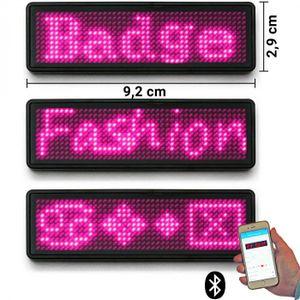 LED-Namensschild Laufschrift Bluetooth & USB programmierbar pink